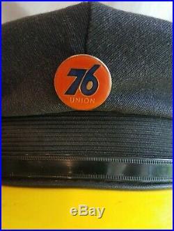 Vintage UNION 76 Gas Station Attendants Hat Cap Sign motor oil Nice Sz 7