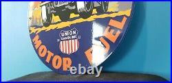 Vintage Union Speed Power Porcelain Gasoline Motor Oil Service Station Sign