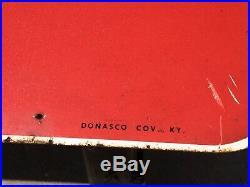 Vintage Valvoline Motor Oil 2 sided Gasoline Metal Sign Oil 30inX30in NO STAND