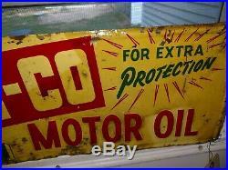 Vintage motor oil sign