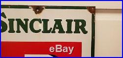Vtg 1930 Sinclair Pennsylvania Motor Oil Gas Station Porcelain Advertising Sign