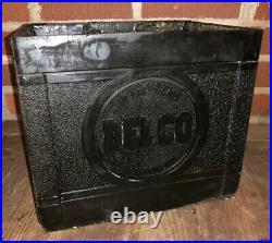 Vtg 40s 50s DELCO REMY GM GENERAL MOTORS Rubber Plastic Battery Box Gas & Oil