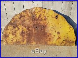 Vtg Original Shell Gasoline Or Motor Oil Porcelain 2 Piece Sign Top Piece Only