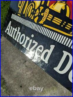 Wadhams Tempered Motor Oil Authorized Dealer Porcelain Enameled Motor Oil Sign
