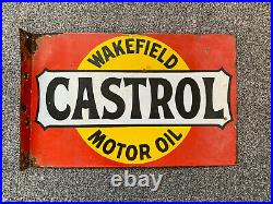 Wakefield Castrol Motor Oil Sign Porcelain Enamel double sided