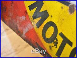 Wakefield Castrol motor oil double sided enamel sign advertising mancave garage