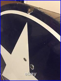 White Star Gasoline Motor Oils 30 Sign Porcelain Navy Blue White